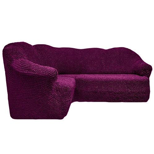 На угловой диван без оборки. Цвет: фиолетовый