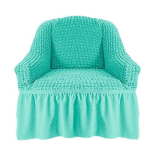 На кресло с оборкой. Цвет: мятный ( 2 шт.)