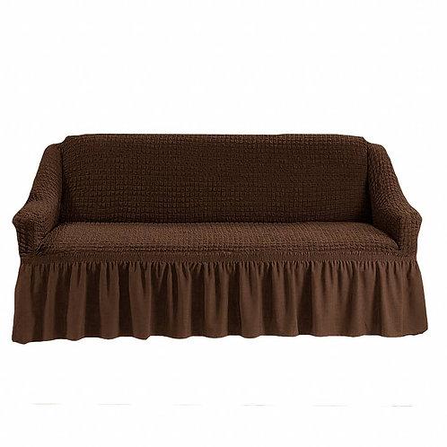 На диван с оборкой. Цвет: шоколад