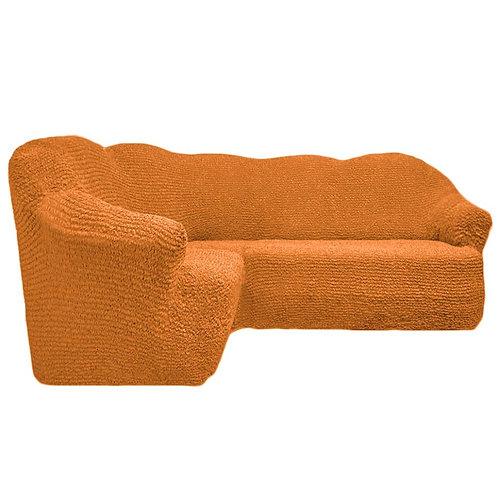 На угловой диван без оборки. Цвет: рыже-коричневый