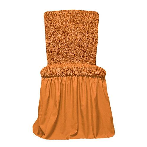 Комплект чехлов на стулья. Цвет: рыже-коричневый