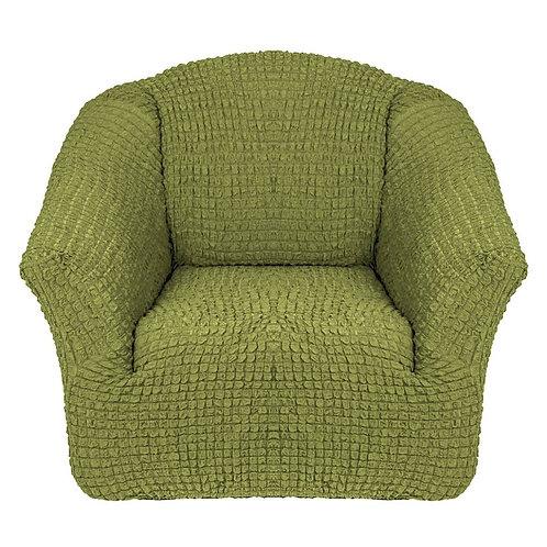 На кресло без оборки. Цвет: фисташковый