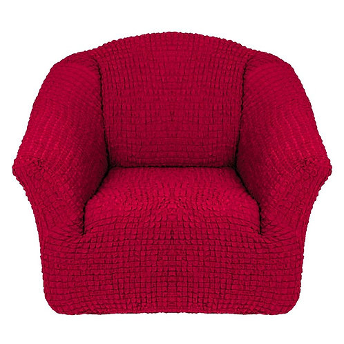 На кресло без оборки. Цвет: бордовый