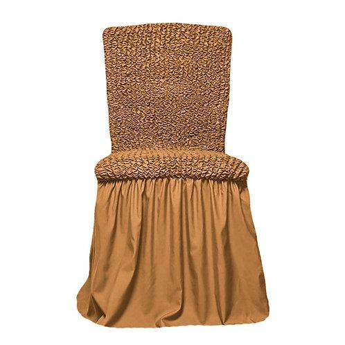 Комплект чехлов на стулья. Цвет: горчичный