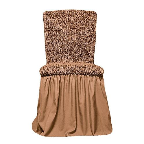 Комплект чехлов на стулья. Цвет: песочный