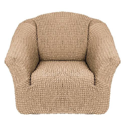 На кресло без оборки. Цвет: бежевый