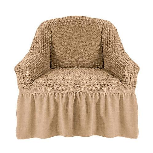 На кресло с оборкой. Цвет: бежевый