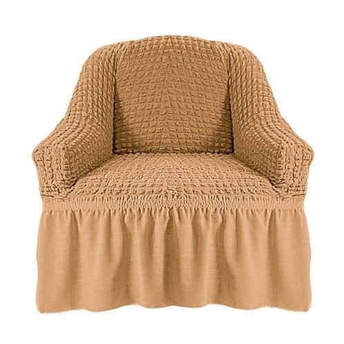 На кресло с оборкой. Цвет: медовый