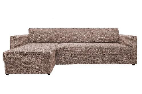 На диван с оттоманкой. Цвет: серо-коричневый.