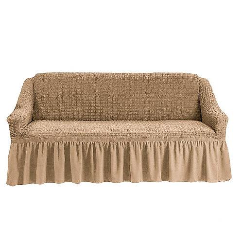 На диван с оборкой. Цвет: бежевый