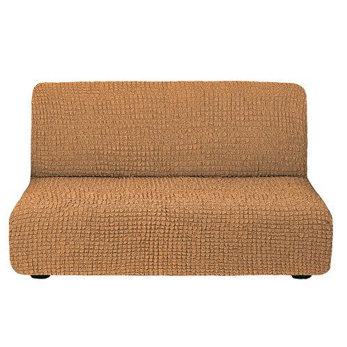 На диван без подлокотников. Цвет: рыже-коричневый