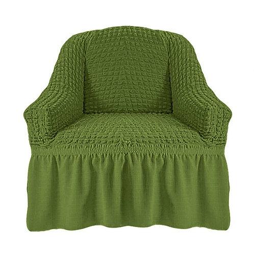 На кресло с оборкой. Цвет: оливковый