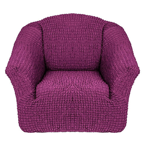 На кресло без оборки. Цвет: фиолетовый