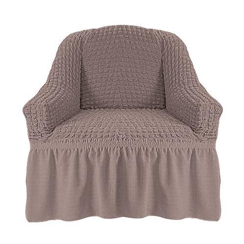 На кресло с оборкой. Цвет: какао