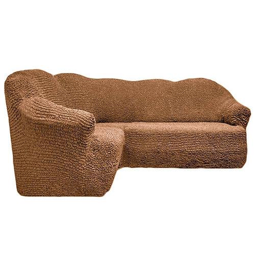 На угловой диван без оборки. Цвет: песочный