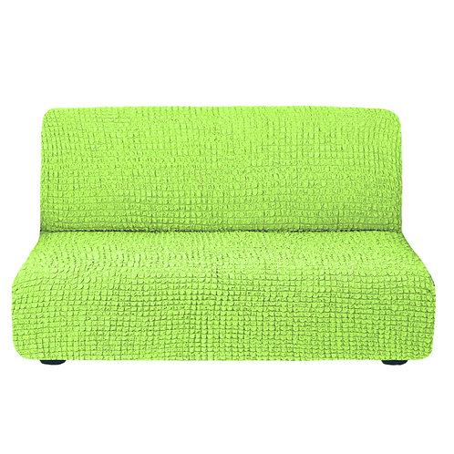 На диван без подлокотников. Цвет: салатовый