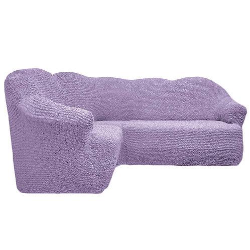 На угловой диван без оборки. Цвет: лиловый