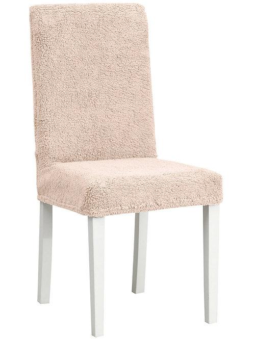 "Комплект чехлов на стулья ""Плюш"" (6 шт.) Цвет: какао"