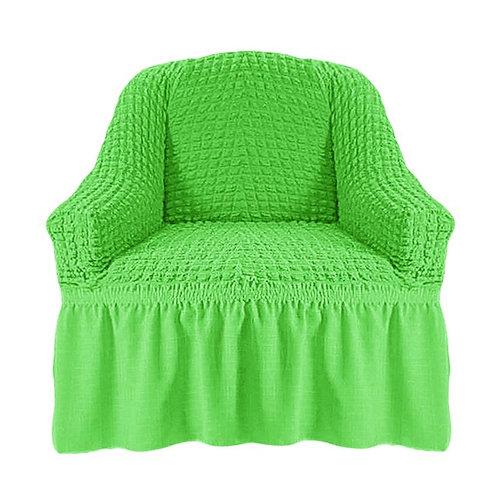На кресло с оборкой. Цвет: салатовый