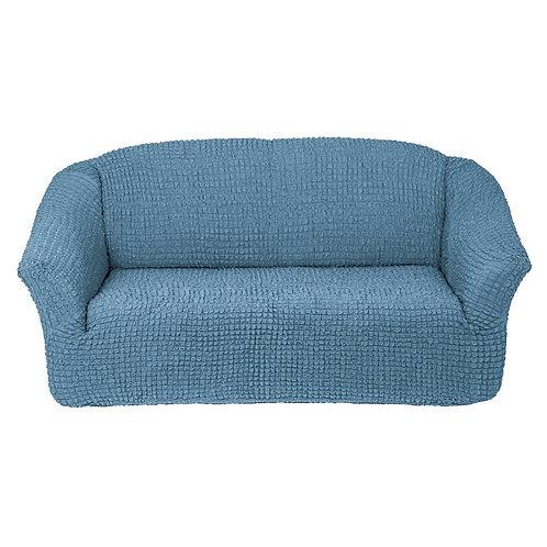 На 4-х местный диван без оборки. Цвет: серо-голубой