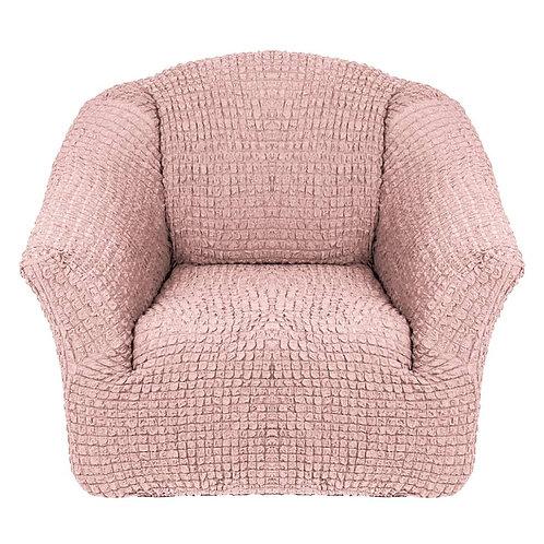 На кресло без оборки. Цвет: пудровый