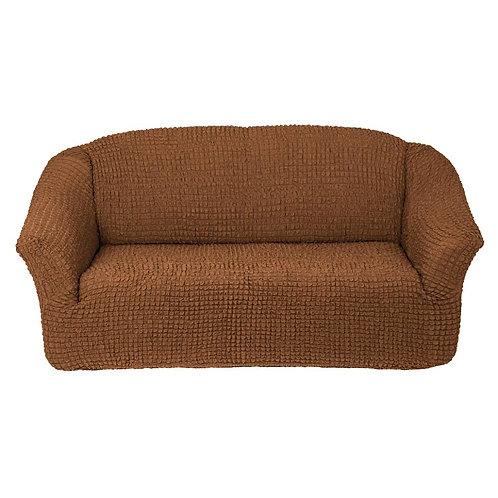 На 4-х местный диван без оборки. Цвет: светло-коричневый
