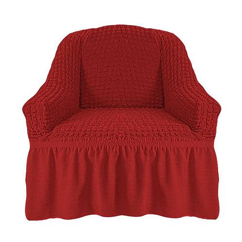 На кресло с оборкой. Цвет: терракотовый