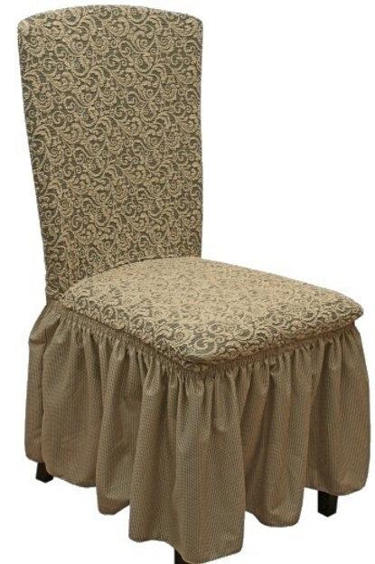 Комплект чехлов на стулья жаккард. Цвет: капучино
