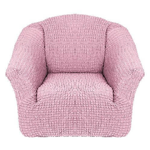 На кресло без оборки. Цвет: розовый