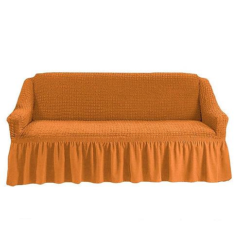 На 4-х местный диван. Цвет: рыже-коричневый