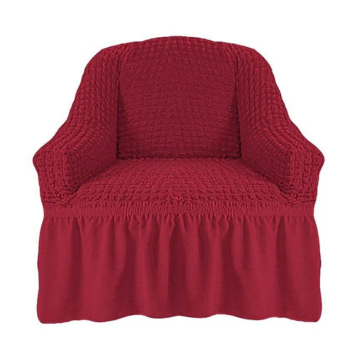 На кресло с оборкой. Цвет: бордовый