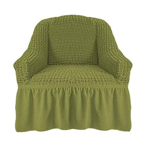 На кресло с оборкой. Цвет: фисташковый ( 2 шт.)