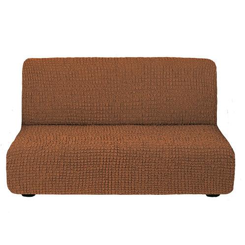 На диван без подлокотников. Цвет: коричневый