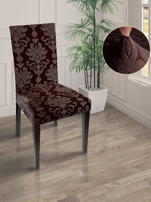 "Чехол на стул ""MARIANNA"". Цвет: шоколад"