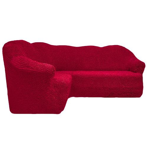 На угловой диван без оборки. Цвет: бордовый