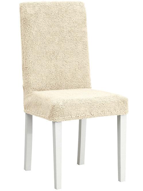 """Комплект чехлов на стулья """"Плюш"""" (6 шт.) Цвет: бежевый"""