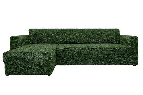На диван с оттоманкой. Цвет: оливковый.