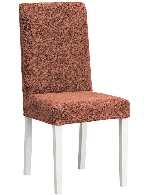 """Комплект чехлов на стулья """"Плюш"""" (6 шт.) Цвет: коричневый"""