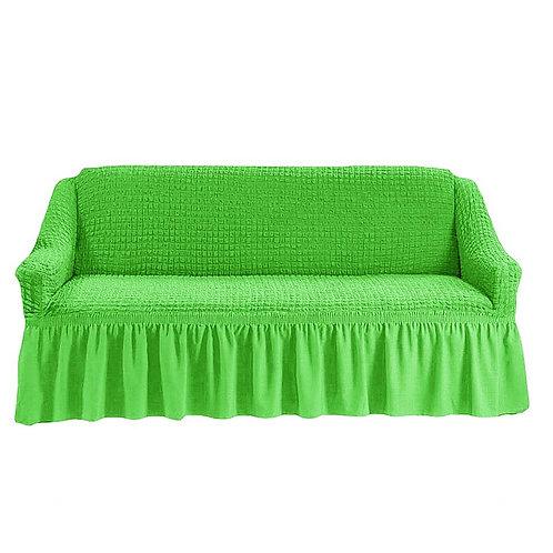На диван с оборкой. Цвет: салатовый