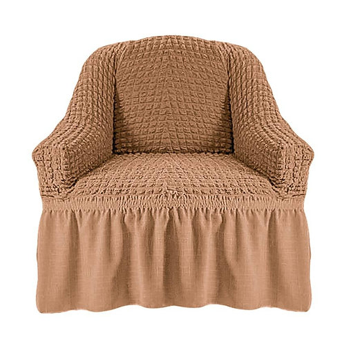 На кресло с оборкой. Цвет: песочный