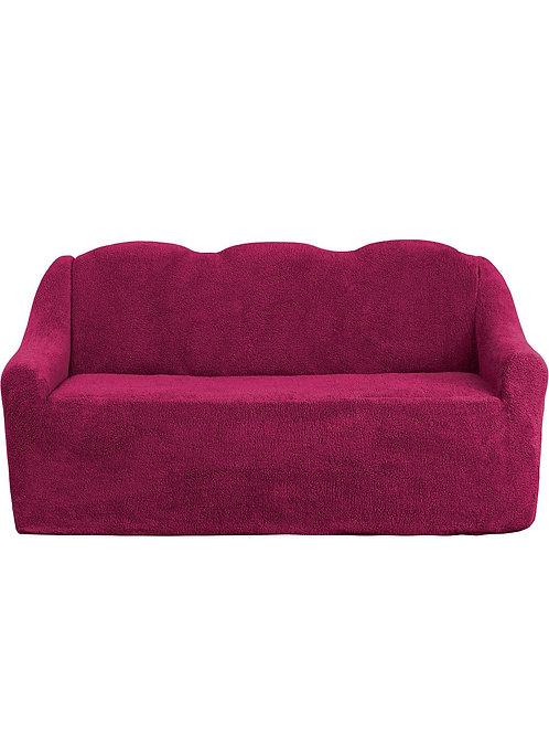 """На 4-х местный диван """"Плюш"""" без оборки. Цвет: бордовый"""