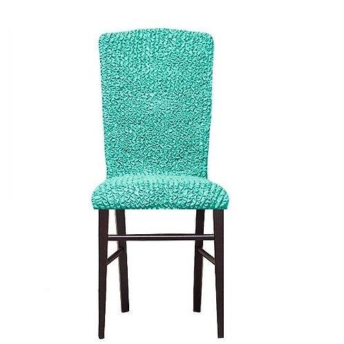 Комплект чехлов на стулья без оборки. Цвет: мятный