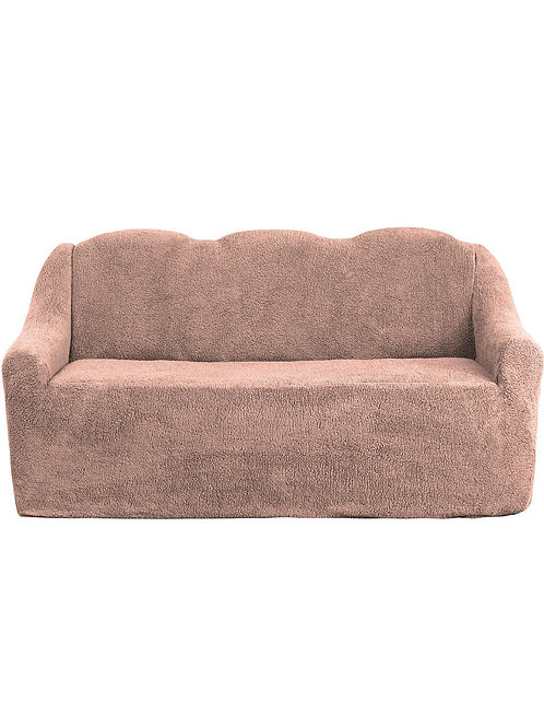 "На диван ""Плюш"" без оборки. Цвет: пудровый"