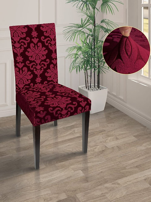 "Чехол на стул ""MARIANNA"". Цвет: бордовый"