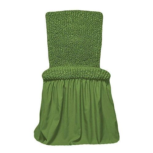 Комплект чехлов на стулья. Цвет: оливковый
