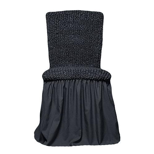 Комплект чехлов на стулья. Цвет: антрацит