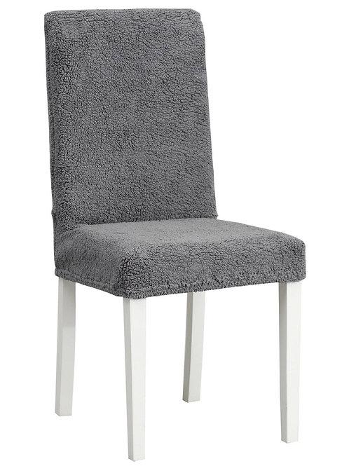 """Комплект чехлов на стулья """"Плюш"""" (6 шт.) Цвет: антрацит"""