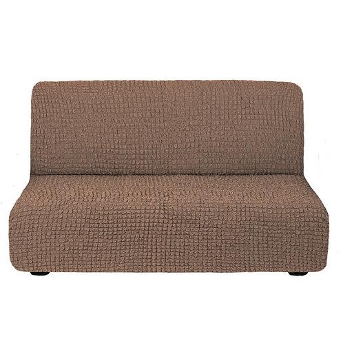 На диван без подлокотников. Цвет: серо-коричневый