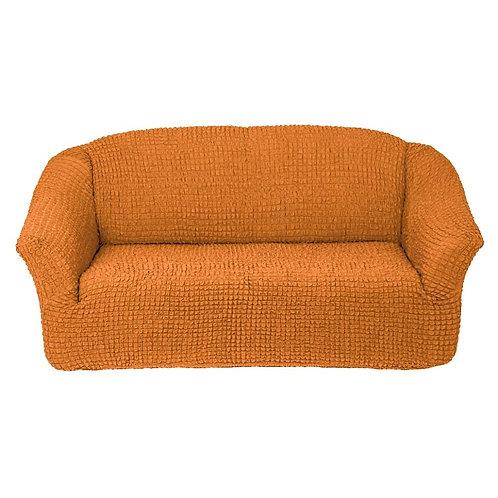 На диван без оборки. Цвет: рыже-коричневый