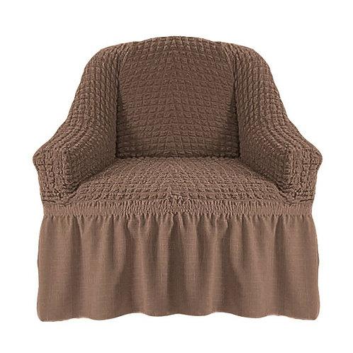 На кресло с оборкой. Цвет: серо-коричневый